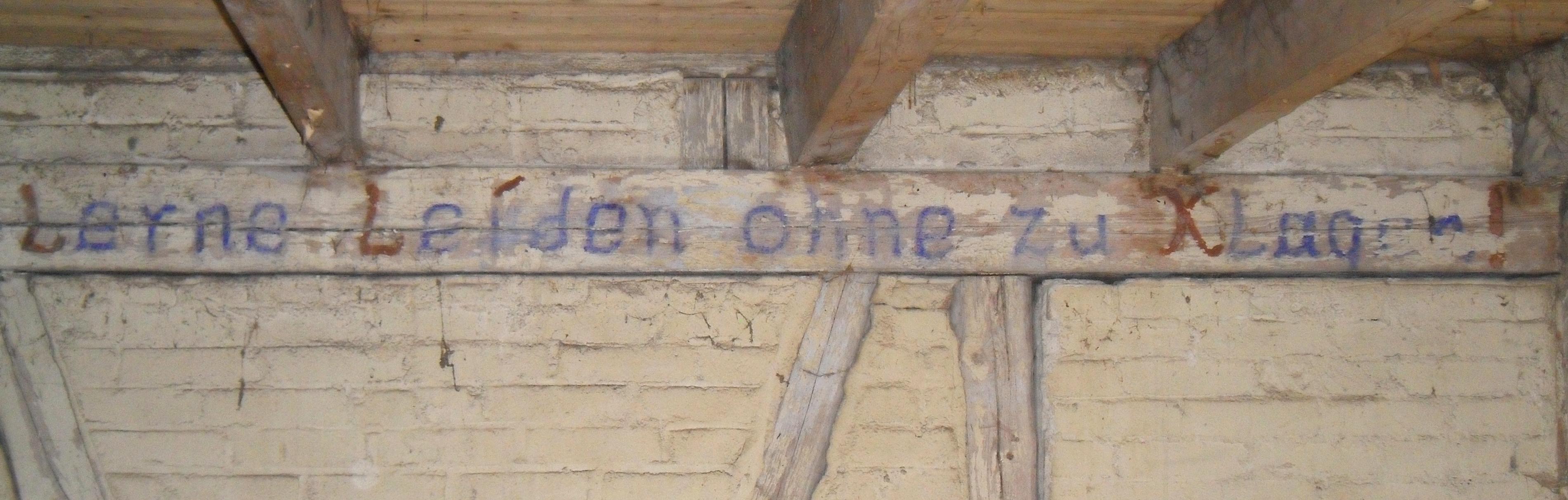 The inscription means