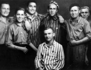 Laura-Häftlinge nach der Befreiung, Gruppenfoto