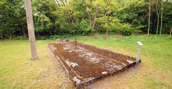 Fundamente der ehemaligen Latrine