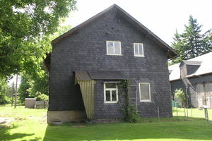 Ansicht der ehemaligen Feldküche, heute Besucherinformation