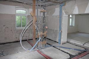 Bauarbeiten zum Umbau des Besucherzentrums
