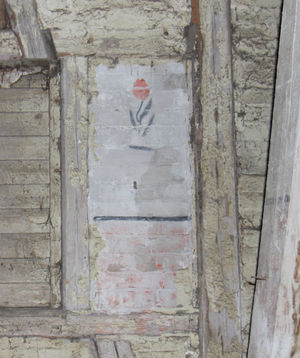 Wandverzierungen aus der KZ-Zeit